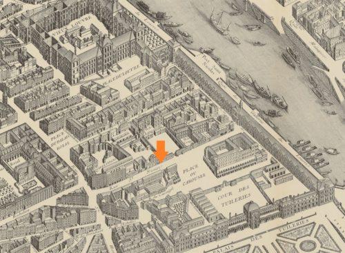 Rue Saint-Nicaise représentée sur le plan Turgot, 1734-1739